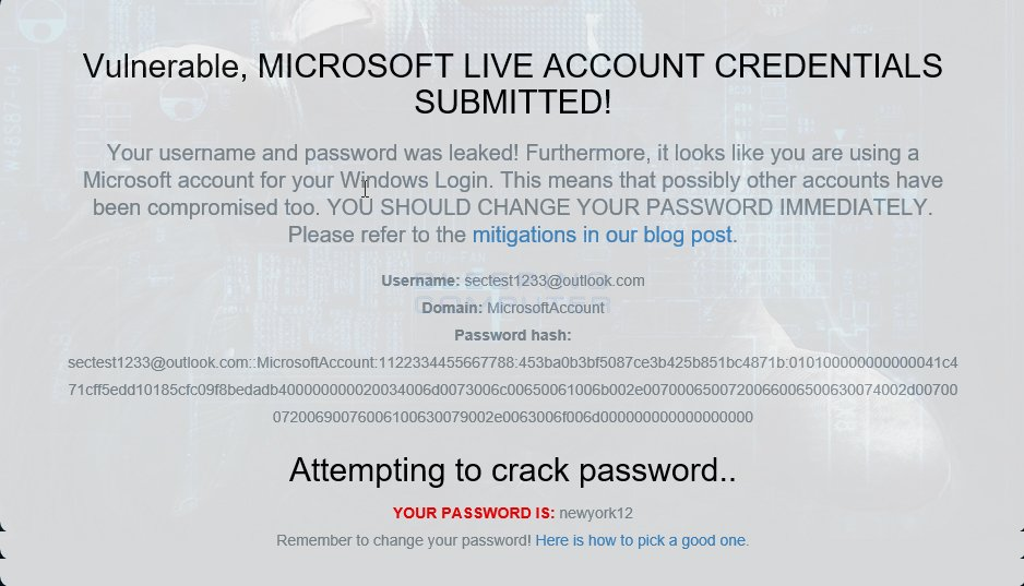 Test show my account info and Password