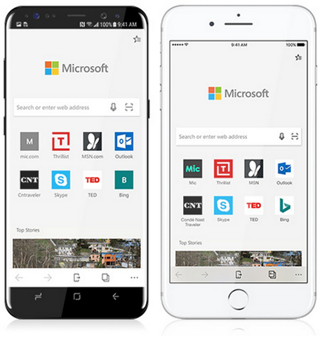 Microsoft Edge launches on iPhone and Android