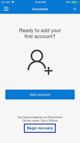 Recover Accounts