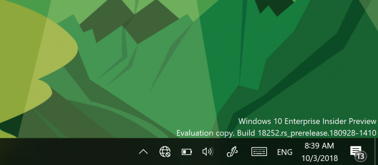 Windows 10 Insider Build 18252 (19H1) Released and Moved to the Fast