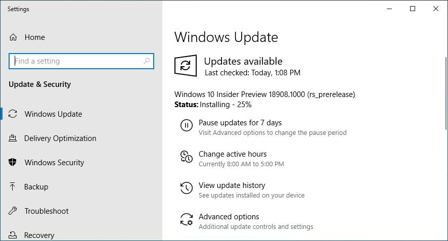 Windows 10 Insider Build 18908 Brings Your Phone Improvements