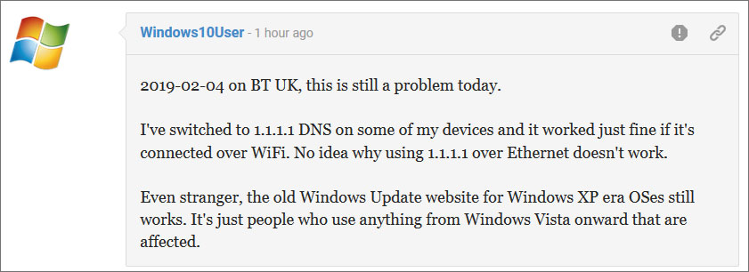 Problemas con la actualización de Windows 10