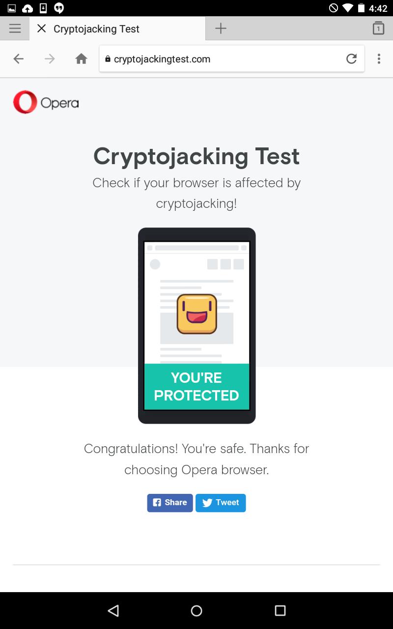 Testing the In-Browser Mining Blocker