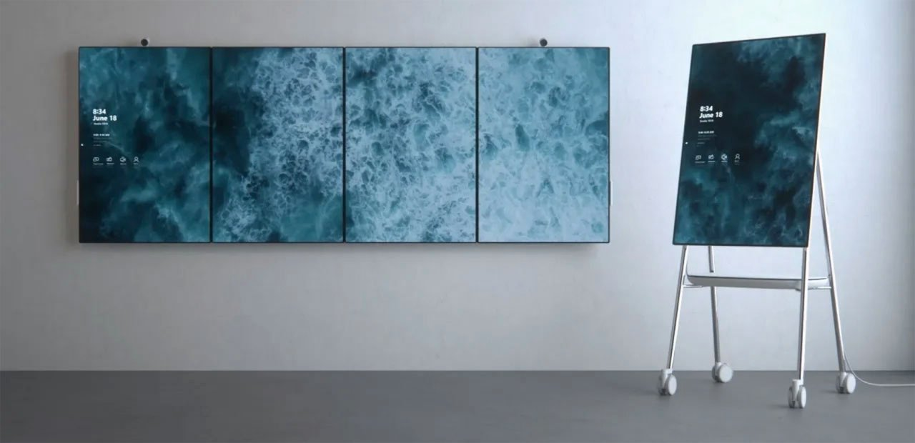 Microsoft\'s Surface Hub 2 Lets You Tile a Wall With Screens