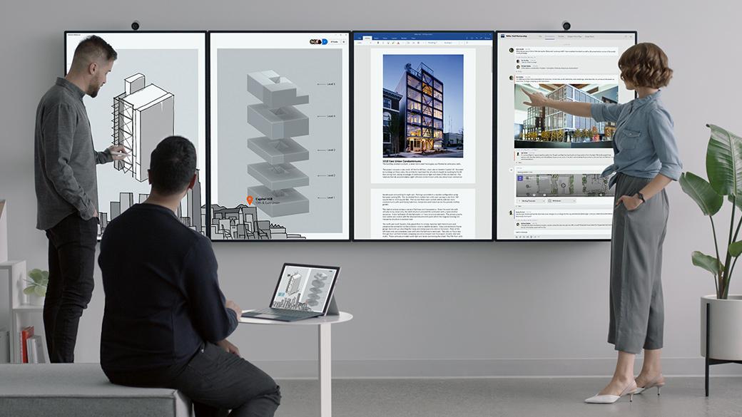 Tiled Surface Hub 2 Tablets
