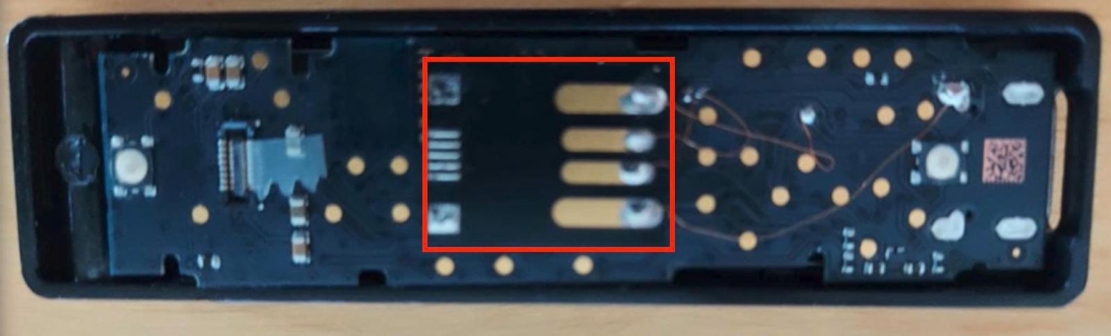 Back of fake Ledger hardware wallet