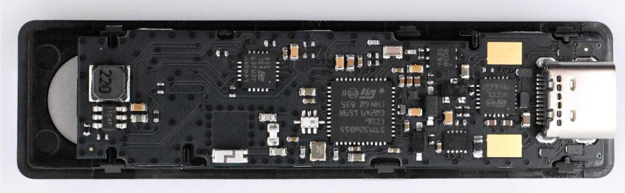 Front of real Ledger hardware wallet