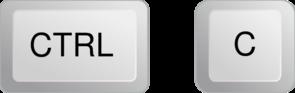Ctrl+C Button