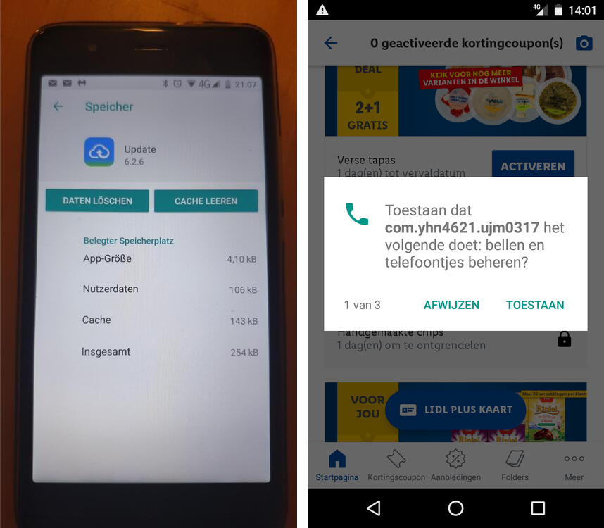 Malicious apps installed on Gigaset phones