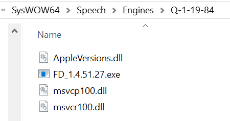 Renamed APSDaemon.exe and AppleVersions.dll coinminer loader