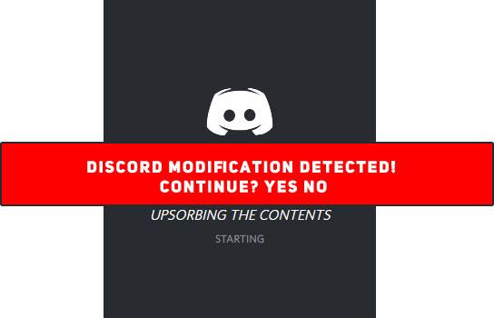 Discord modifikasi alert mockup