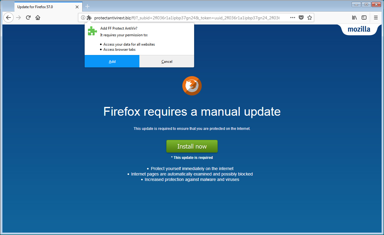 PSA: Beware of Sites Pretending to be Manual Firefox Updates