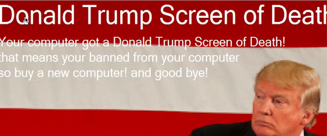 Donald Trump Screen of Death
