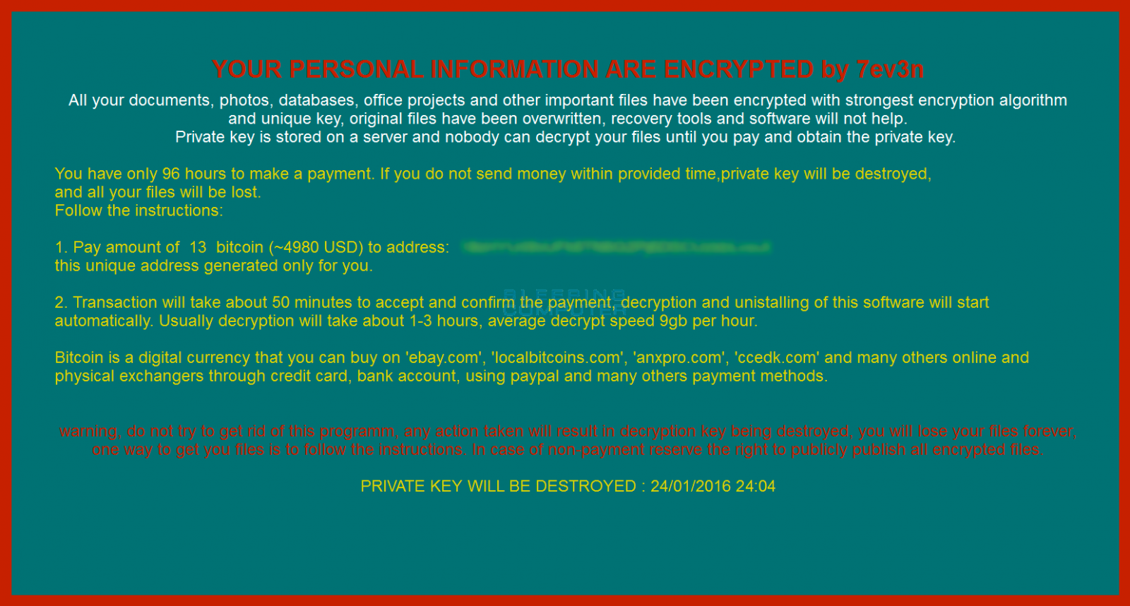 Ransomware bitcoin : Lowest fee trading platform