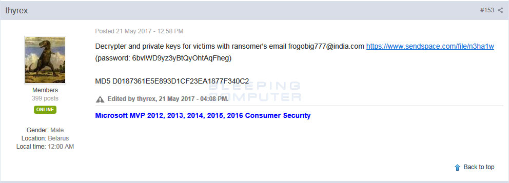 AES-NI Ransomware Dev Releases Decryption Keys Amid Fears of Being Framed for XData Outbreak