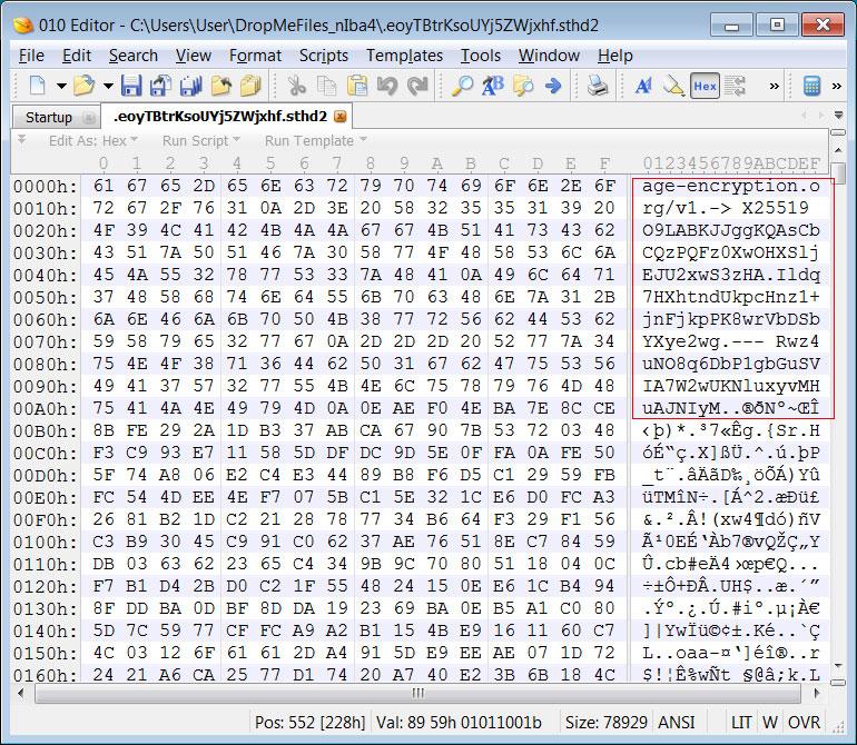 Age encryption
