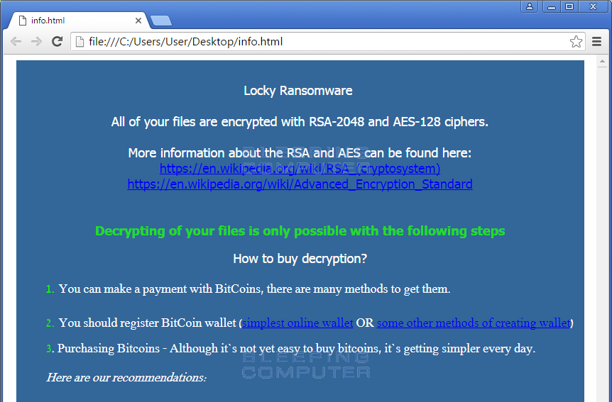 Decrypted: The new AutoLocky Ransomware fails to impersonate Locky