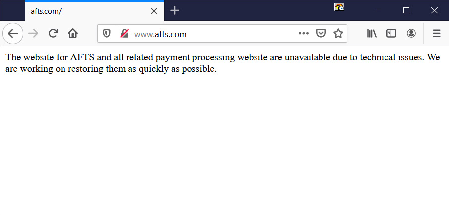Automatic Funds Transfer Services (AFTS) website