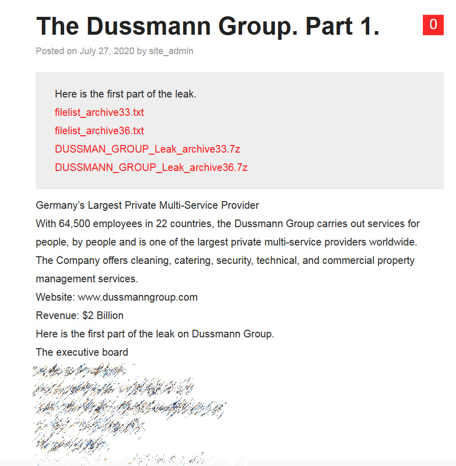 Nefilim DKA data leak