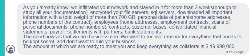 Conti ransomware demands of HSE