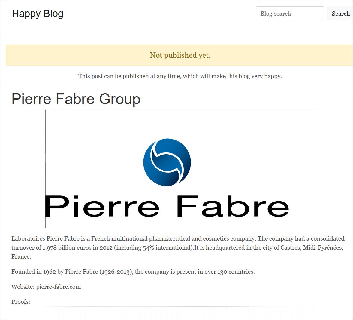Hidden REvil data leak page for Pierre Fabre
