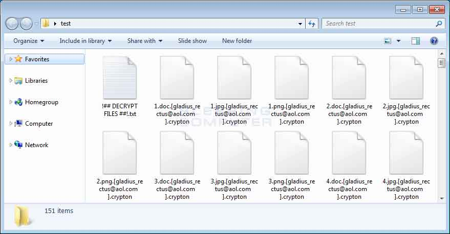 Folder of Encrypted Crypton Files
