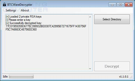 New BTCWare Ransomware Decrypter Released for the Master Variant