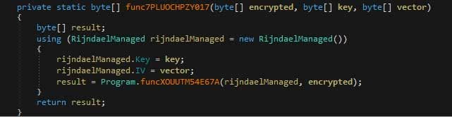 Function that decrypts string