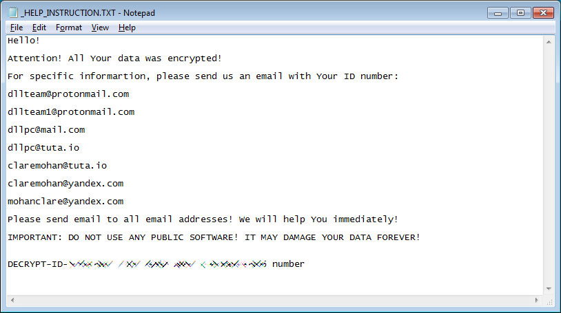 DLL CryptoMix Ransom Note