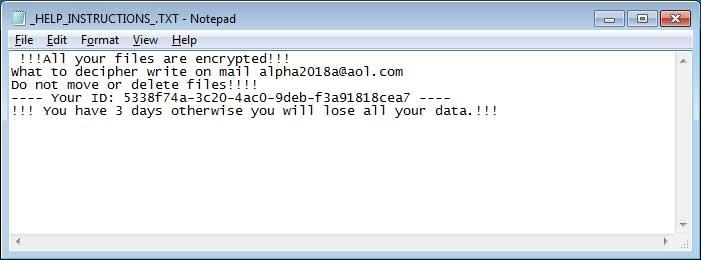 MOLE66 CryptoMix Ransom Note