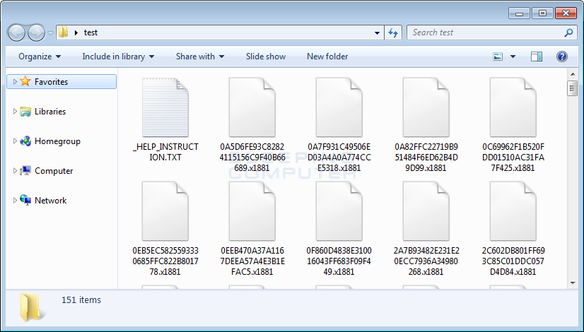 Folder of Encrypted x1881 Files