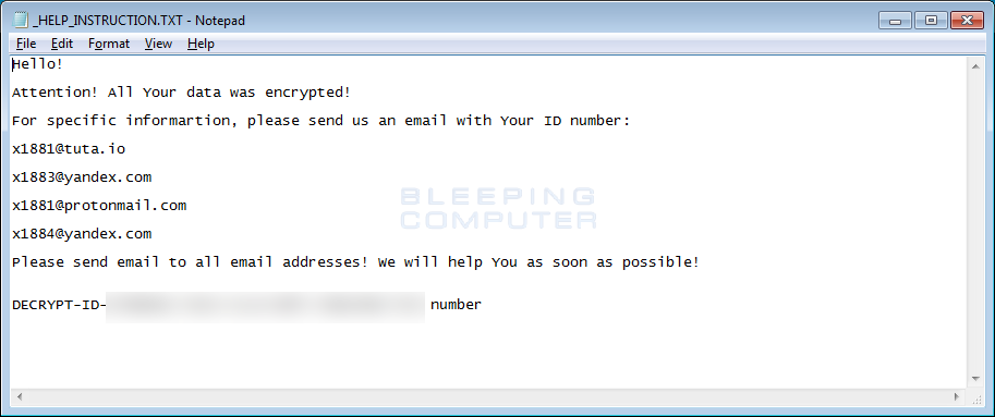x1881 CryptoMix Ransom Note