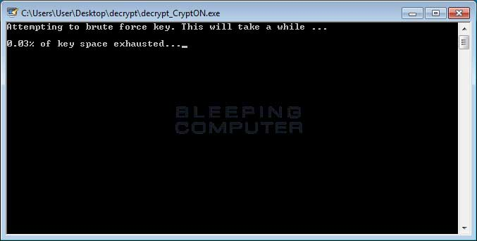 Brute Forcing the Decryption Key