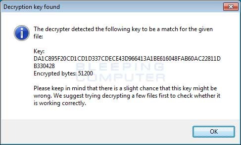 Decryption Key Found