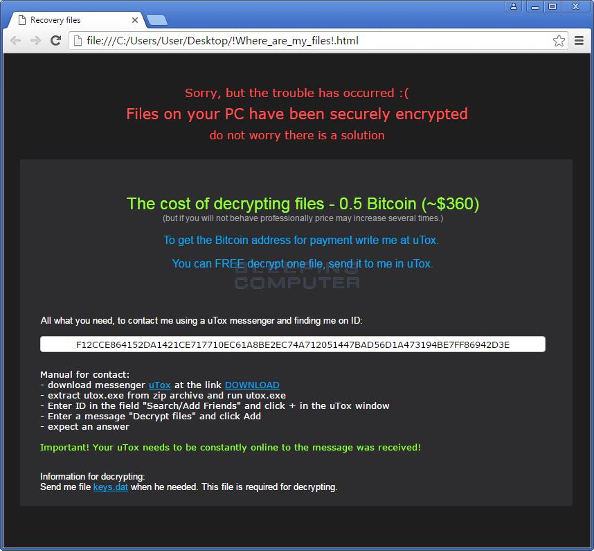 CryptoRoger Ransom Note