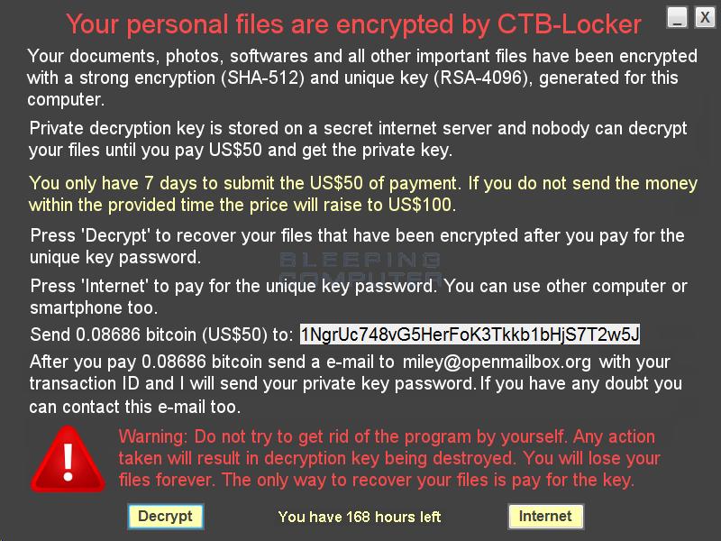 CTB-Faker Ransom Screen