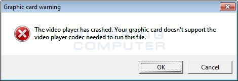 Fake Graphic Card Error Alert
