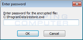 Restore Password Prompt