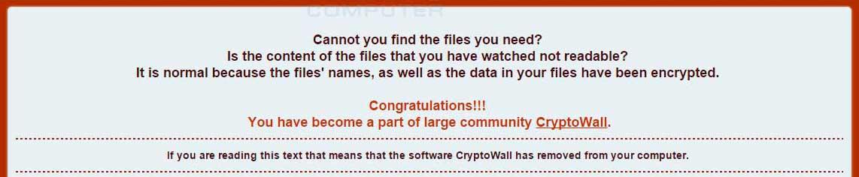 CryptoWall v4.0 Header
