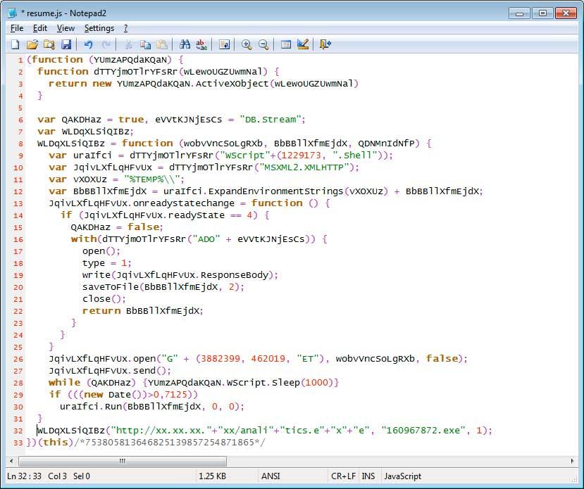 JavaScript Trojan/Downloader
