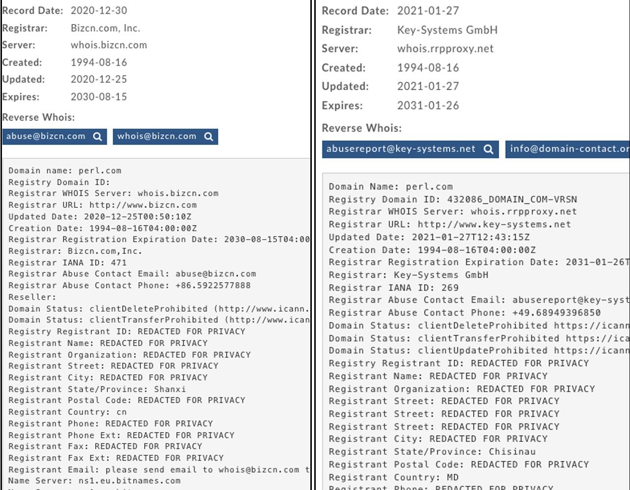 Roban el dominio de Perl.com y su nueva IP está asociada a malware Perl-domain-transfers