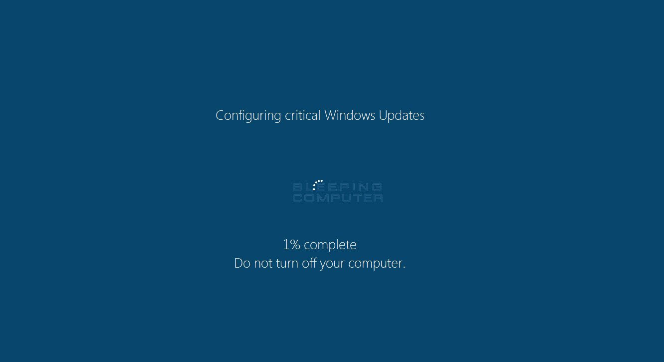 Fake Windows Update Screen