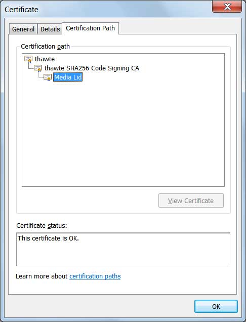 Signature used by GlobeImposter Executable