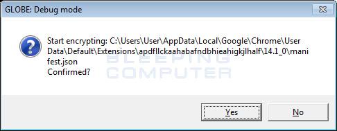 Debug: Encrypt a file