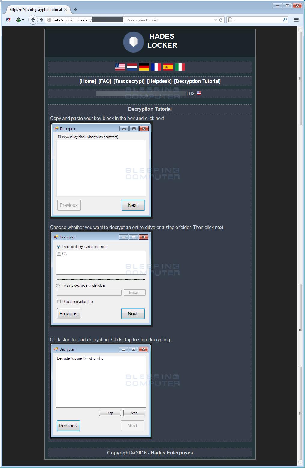 Decryption Tutorial Page
