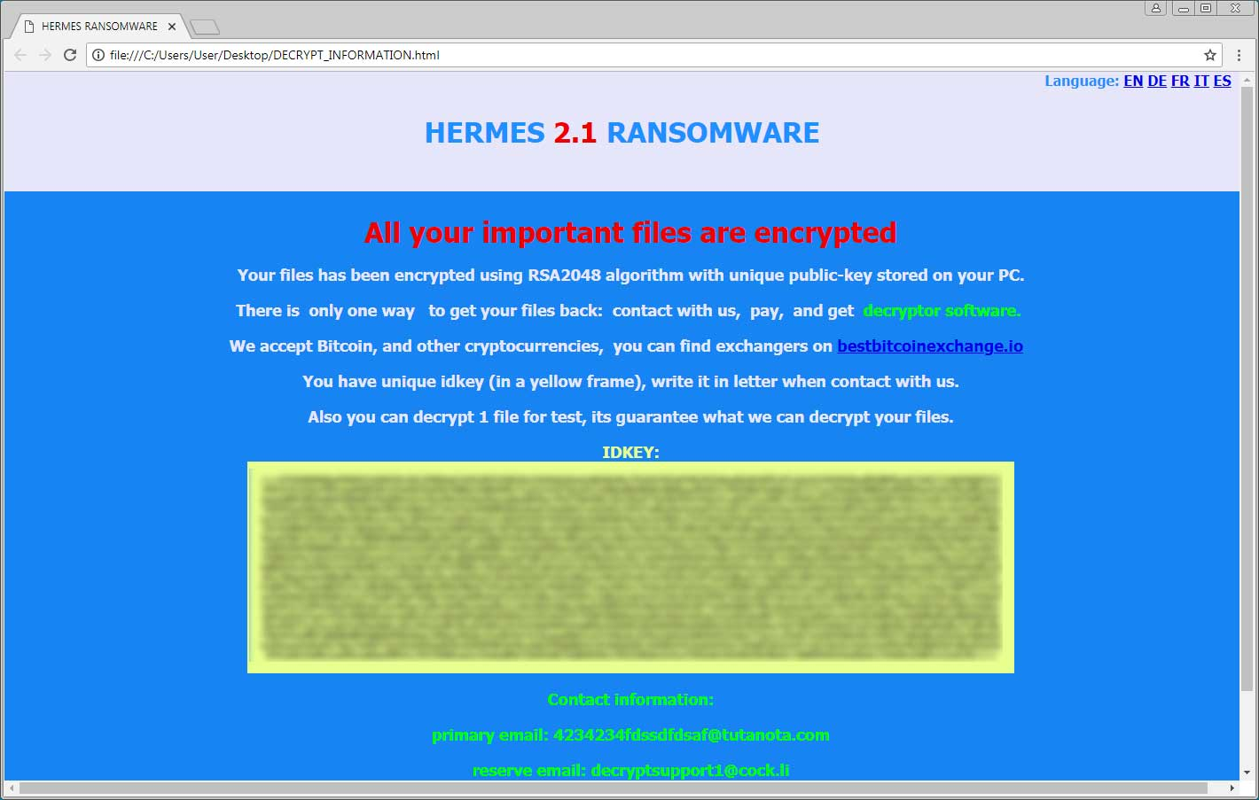 The Week in Ransomware - August 24th 2018 - Hermes, Fox, and Ryuk