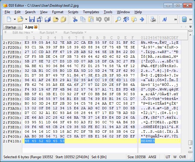 File Marker in Encrypted File