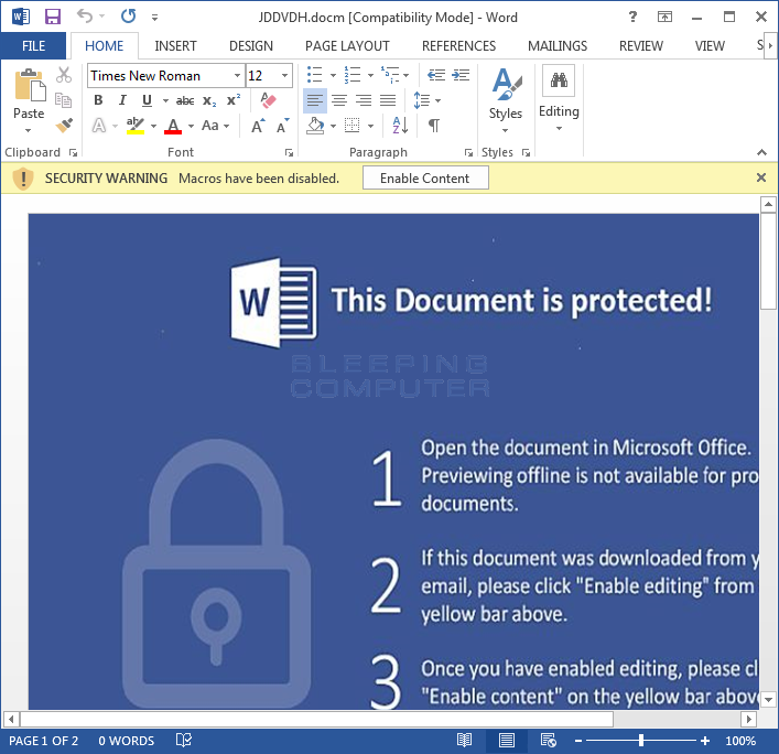 Embedded DOCM File