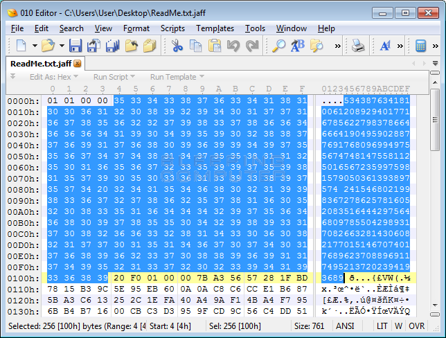 File Marker in an Encrypted File
